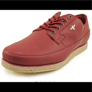 New Creative recreation red straw sneakers leather